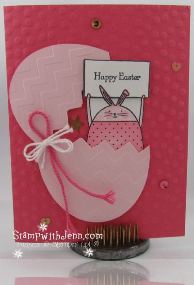 Easter card bunny
