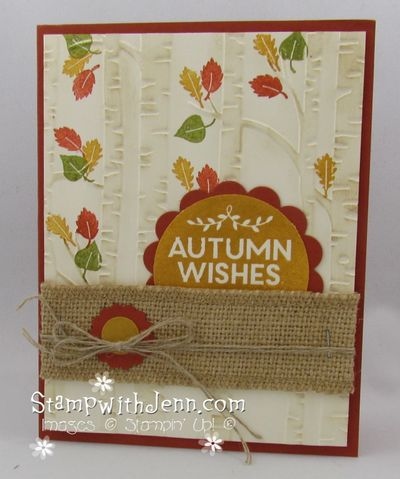 Autumn wishes woodland folder