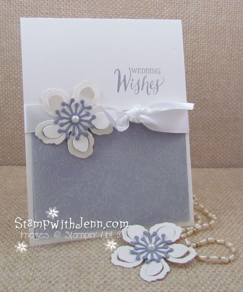 Free Vellum Paper for a Wedding Card | Stamp with Jenn