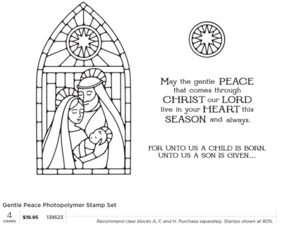Stamp set gentle peace photopolymer