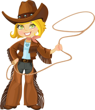Blond cowgirl with Lasso copy