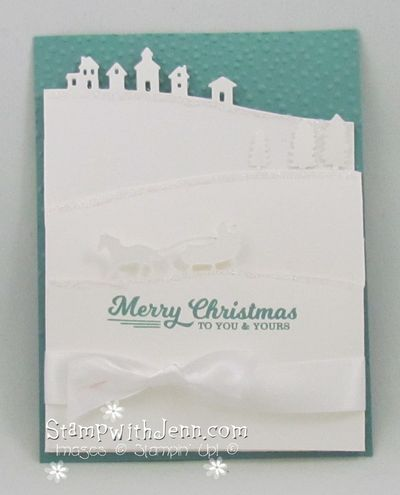 Sleigh ride fold out card closed