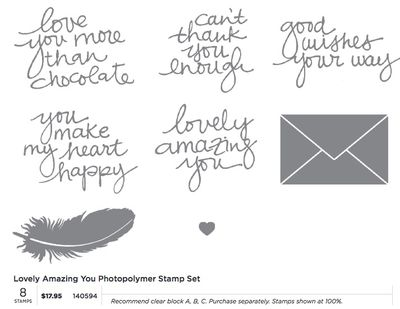 Lovely Amazing You new photopolymer stamp set