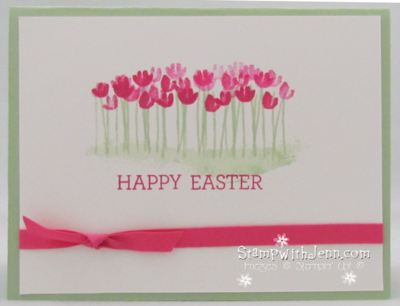 Easter card painted petals