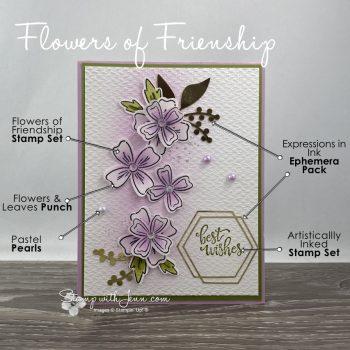 Flowers of Friendship Wedding card