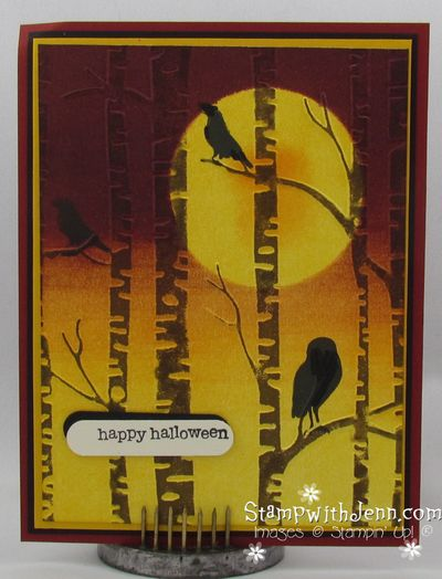 Among the branches halloween card