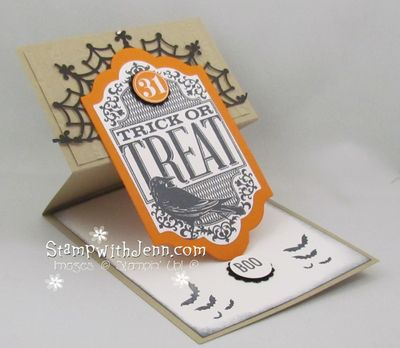 Witches night easel card